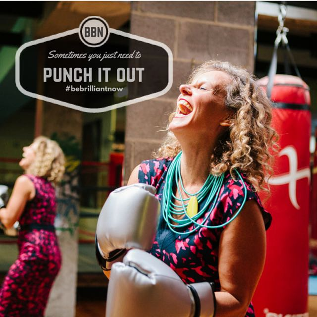 Sometimes the best thing to do is punch it out