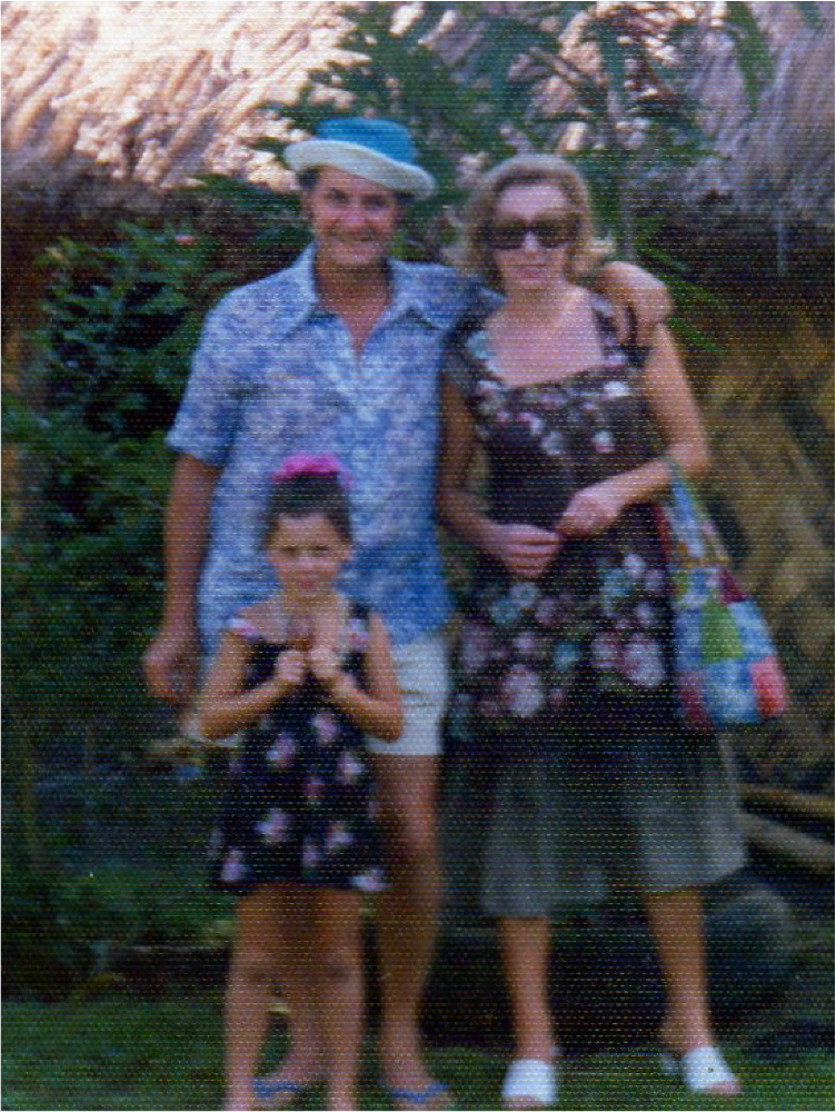 Dad, mum and JulieAnne Black in Fiji