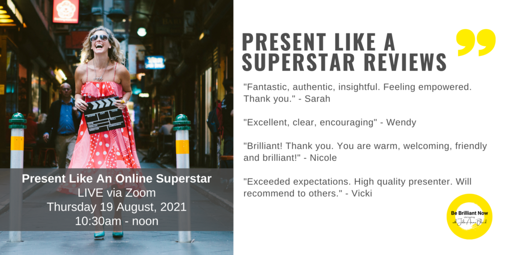 Geelong Festival Present Like An Online Superstar and be brilliant now on camera